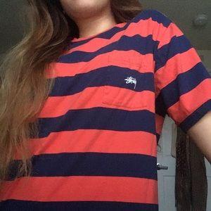 Stussy Striped Boxy T-Shirt